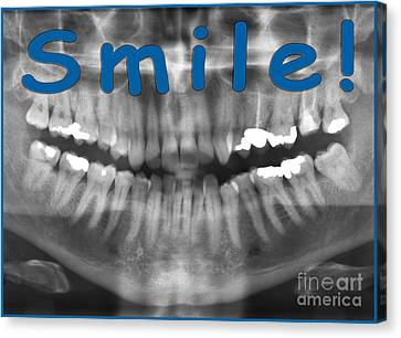 Panoramic Dental X-ray With A Smile  Canvas Print by Ilan Rosen