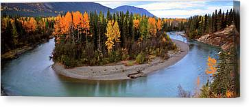 Panoramic Northern River Canvas Print by Mark Duffy