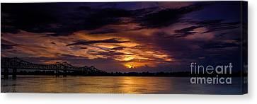 Panoramic Sunset At Natchez Canvas Print
