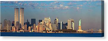 Panoramic Sunset View Of World Trade Canvas Print