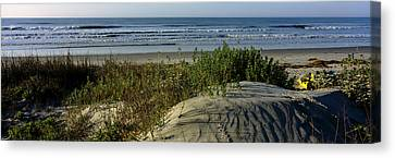 Panoramic View Of A Beach, Kiawah Canvas Print by Panoramic Images