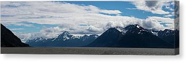 Panoramic View Of Beluga Point Canvas Print