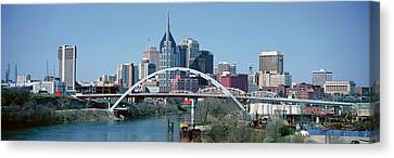 Panoramic View Of Bridge Canvas Print