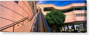 Panoramic View Of Escalator And Stairs Canvas Print