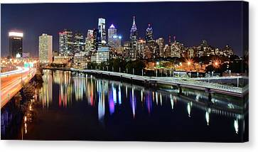 Panoramic View Of Philly Canvas Print