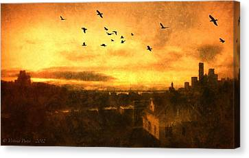 Panoramic View Of Seattle From The Balcony Canvas Print