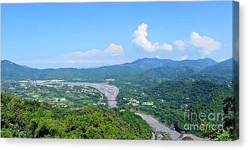 Canvas Print featuring the photograph Panoramic View Of Southern Taiwan by Yali Shi