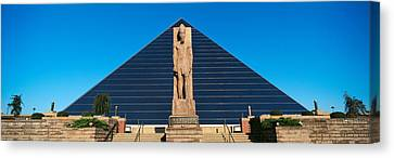 Panoramic View Of Statue Of Ramses Canvas Print by Panoramic Images