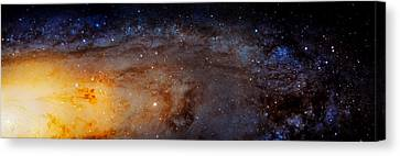The Universe Canvas Print - Panoramic View Of The Andromeda Galaxy by Jennifer Rondinelli Reilly - Fine Art Photography