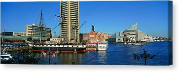 Panoramic View Of The Uss Constitution Canvas Print
