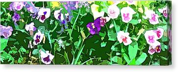 Pansies Flower Garden Abstract Canvas Print