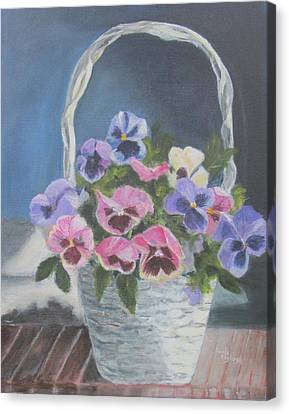 Pansies For A Friend Canvas Print