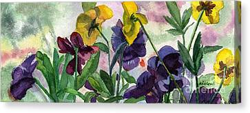 Pansy Field Canvas Print by Lynne Reichhart