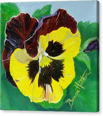 Canvas Print featuring the painting Pansy No. Ten by Bonnie Heather