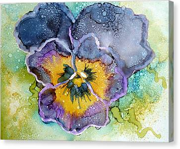 Pansy Canvas Print by P Maure Bausch