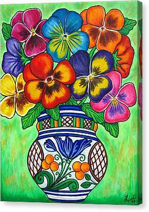 Pansy Parade Canvas Print by Lisa  Lorenz