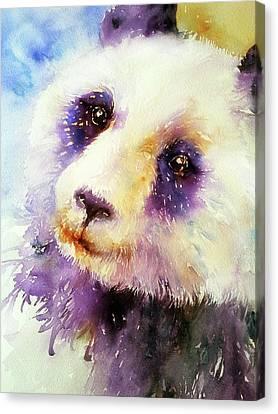 Pansy The Giant Panda Canvas Print