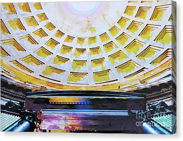 Panteon Canvas Print by Nica Art Studio
