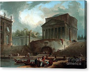 Pantheon And The Porto  Canvas Print