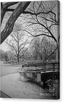 Panther Hollow Bridge Canvas Print by Peter Paul Lividini