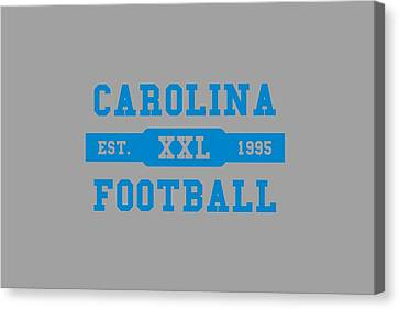 Panthers Retro Shirt Canvas Print
