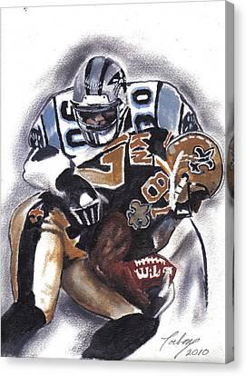 Panthers Vs Saints Canvas Print by Torben Gray