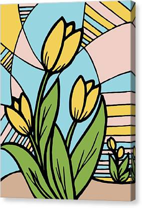 Pantone Colored Tulips Canvas Print by Stephanie Brock