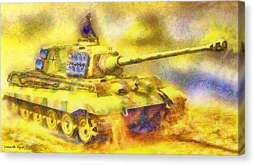 Tiger Canvas Print - Panzer Tiger 2 - Da by Leonardo Digenio