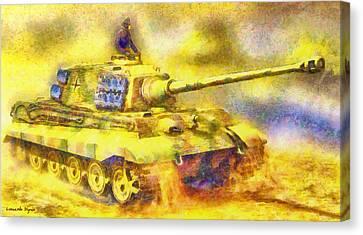 Panzer Tiger 2 - Pa Canvas Print by Leonardo Digenio