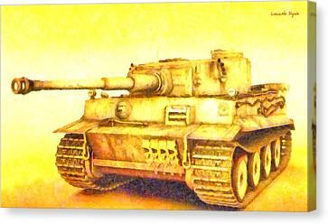 Machines Canvas Print - Panzer Vi Tiger - Pa by Leonardo Digenio