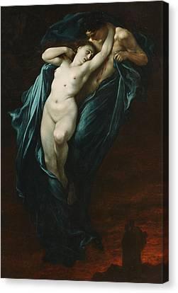 Paolo And Francesca Da Rimini  Canvas Print by Gustave Dore