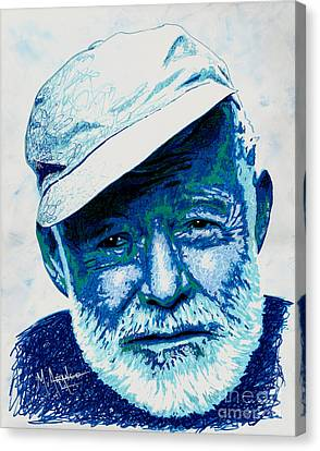 Papa Hemingway Canvas Print by Maria Arango