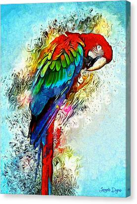 Parrots Canvas Print - Papagaio by Leonardo Digenio
