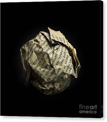 Frustration Canvas Print - Paper by Bernard Jaubert