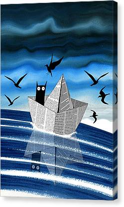 Paper Boat  Canvas Print by Andrew Hitchen