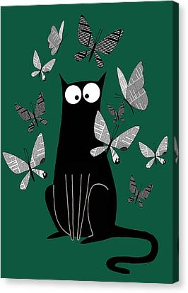 Yesterday Canvas Print - Paper Butterflies  by Andrew Hitchen