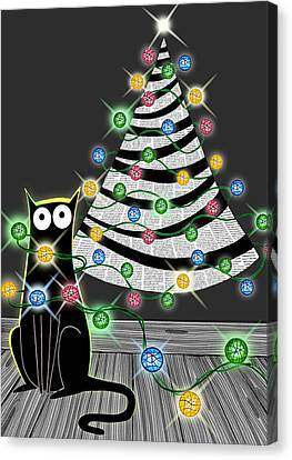 Paper Christmas Tree Canvas Print by Andrew Hitchen