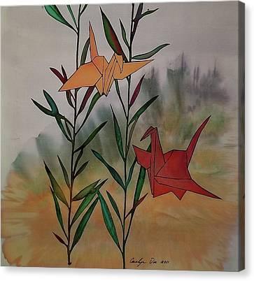 Paper Cranes 1 Canvas Print