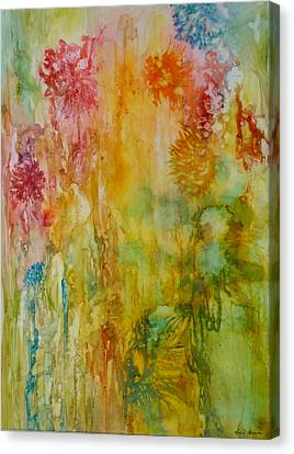 Paper Flowers Canvas Print by Rosie Brown