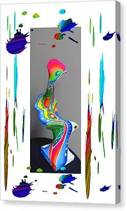 Digital Installation Art Canvas Print - Paper Mache Design 2 Of 2 by Tina M Wenger