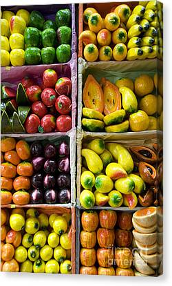 Paper Mache Fruits Canvas Print by Gloria & Richard Maschmeyer - Printscapes