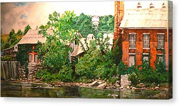 Paper Mill Canvas Print by Thomas Akers