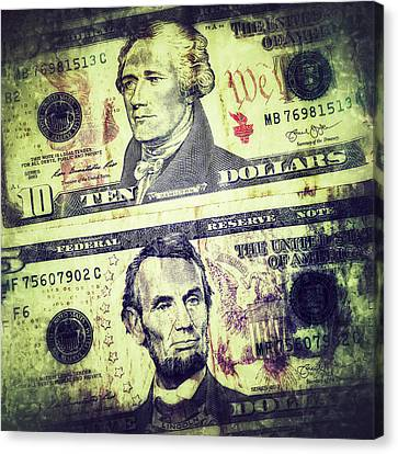 Fed Canvas Print - Paper. Money by Marcus Bowman
