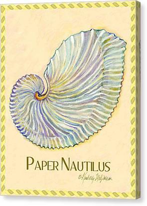 Paper Nautilus Canvas Print