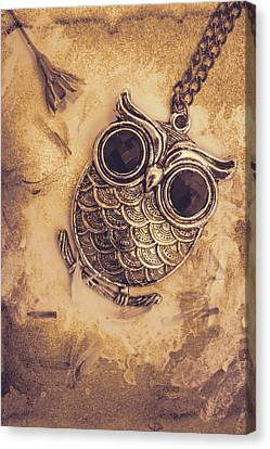 Paper Pendant Owl Canvas Print by Jorgo Photography - Wall Art Gallery