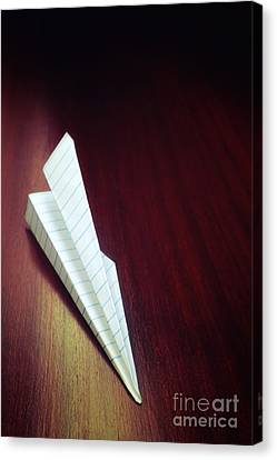 Paper Plane Toy Canvas Print by Carlos Caetano