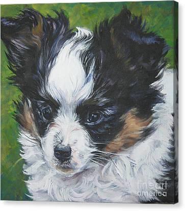 Papillon Pup Canvas Print by Lee Ann Shepard