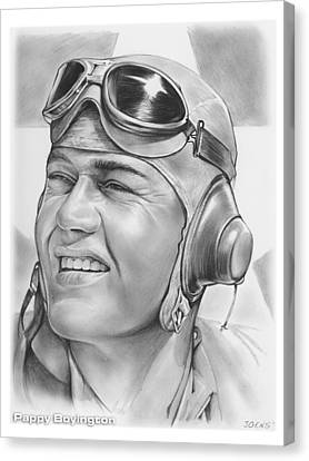 Pappy Boyington Canvas Print by Greg Joens