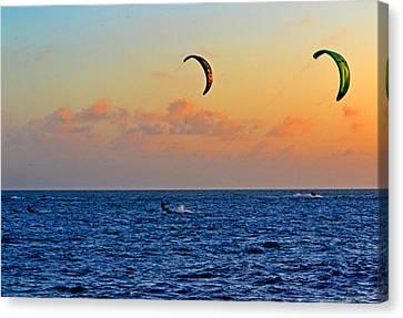 Para-surfing In Key West 003 Canvas Print