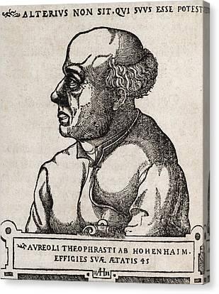 Paracelsus, Swiss Alchemist Canvas Print by Middle Temple Library